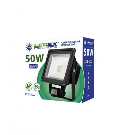 Світлодіодний прожектор LEDEX 50W STANDARD з датчиком